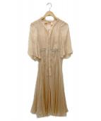 N°21(ヌメロ ヴェントゥーノ)の古着「シースルーワンピース」|ベージュ