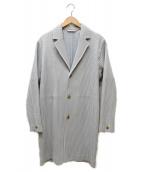 HOMME PLISSE ISSEY MIYAKE(オム プリッセ イッセイ ミヤケ)の古着「プリーツコート」|グレー