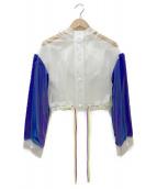 ATOMOS PINK(アトモス ピンク)の古着「リフレクターショートフードコート」|ホワイト