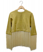 TOGA PULLA(トーガプルラ)の古着「フリンジ付ブラウス」|イエロー