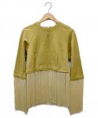 TOGA PULLA(トーガ プルラ)の古着「フリンジ付ブラウス」|イエロー