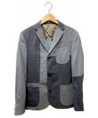 kolor/BEACON(カラービーコン)の古着「パッチワークテーラードジャケット」|グレー