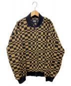 stussy(ステューシー)の古着「Checker Varsity Jacket」|ブラウン