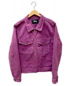 stussy(ステューシー)の古着「Overdyed Garage Jacket」|パープル