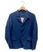 MINOTAUR(ミノトール)の古着「エアーナイロンテーラードジャケット」|ネイビー