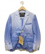 MINOTAUR(ミノトール)の古着「シアサッカーテーラードジャケット」|ブルー