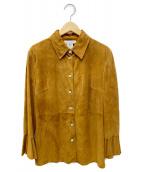 CELINE(セリーヌ)の古着「ゴートレザーシャツ」 ブラウン
