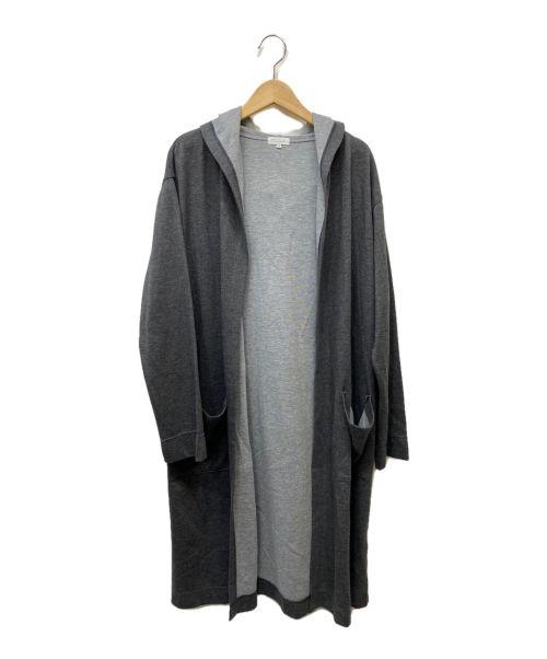 MACKINTOSH PHILOSOPHY(マッキントッシュフィロソフィー)MACKINTOSH PHILOSOPHY (マッキントッシュフィロソフィー) フーディロングカーディガン グレー サイズ:38の古着・服飾アイテム