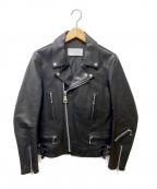 KURO(クロ)の古着「DOUBLE RIDERS JACKET」|ブラック