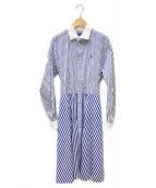 POLO RALPH LAUREN(ポロ・ラルフローレン)の古着「シャツワンピース」|ブルー×ホワイト