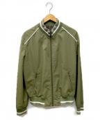 Maison Margiela10(メゾンマルジェラ10)の古着「Satin Bomber Jacket」|カーキ