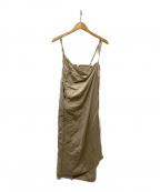 CLANE(クラネ)の古着「STRAP DEFORM SKIRT」|ベージュ