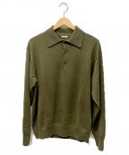 PHIGVEL MAKERS(フィグベルマーカーズ)の古着「ウールカシミヤニットポロシャツ」|オリーブ