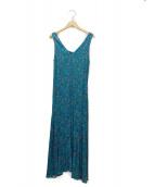 FRAY ID(フレイアイディー)の古着「総柄ノースリーブワンピース」|ブルー