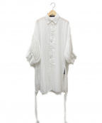 styling/ kei shirahata(スタイリング / ケイ シラハタ)の古着「タックスリーブシャツ」 ホワイト