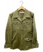 MARNI(マルニ)の古着「ステッチワークシャツジャケット」|カーキ