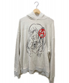 FULL-BK(フルビーケー)の古着「A paint hoodie」|ライトグレー