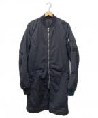 DRKSHDW(ダークシャドウ)の古着「フライトトレンチロングボンバージャケット」 ブラック