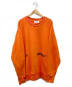 AMBUSH(アンブッシュ)の古着「プリントクルーネックオーバーサイズスウェット」 オレンジ