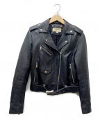 MICHAEL MICHAEL KORS(マイケル マイケルコース)の古着「ダブルライダースジャケット」 ブラック