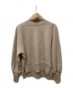 BALLSEY(ボールジィー)の古着「クリアミルドスムースボリュームスリーブプルオーバー」|ベージュ