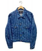 MCM(エムシーエム)の古着「モノグラムロゴデニムジャケット」|インディゴ