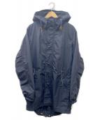 nanamica(ナナミカ)の古着「ナイロンモッズコート」 ブラック