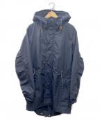nanamica()の古着「ナイロンモッズコート」 ブラック
