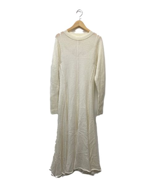 furfur(ファーファー)furfur (ファーファー) ニットロングワンピース ホワイト サイズ:ONEの古着・服飾アイテム