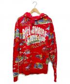BILLIONAIRE BOYS CLUB(ビリオネアボーイズクラブ)の古着「プルオーバーパーカー」 レッド