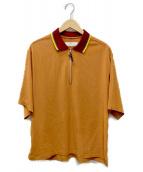 TOGA VIRILIS(トーガ ヴィリリース)の古着「Satin zip pullover top」|オレンジ