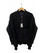 ()の古着「ボアブルゾン」|ブラック
