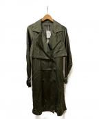 STUNNING LURE(スタニングルアー)の古着「レーヨントレンチコート」|オリーブ