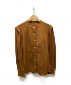 allureville(アルアバイル)の古着「バンドカラーシャツ」|ブラウン