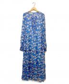BAUM UND PFERDGARTEN(バウムウンドヘルガーデン)の古着「花柄シフォンワンピース」 ブルー