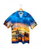 X-LARGE(エクストララージ)の古着「サンセット転写アロハシャツ」|ブルー