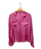 PERVERZE(パーバーズ)の古着「ダメージ加工シャツ」|ピンク