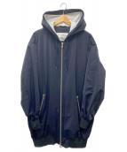 TATRAS×Lucio Vanotti(タトラス × ルーチョバノッティ)の古着「ナイロンフーデッドコート」|ブラック