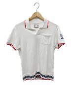 MONCLER GAMME BLEU(モンクレール ガム ブルー)の古着「ポロシャツ」|ホワイト