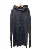 ()の古着「シームドロングパーカー」 ブラック