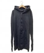 MA JULIUS(エムエイユリウス)の古着「シームドロングパーカー」|ブラック