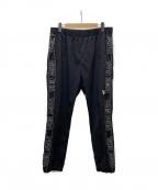 New Era(ニューエラ)の古着「サイドロゴナイロンパンツ」|ブラック