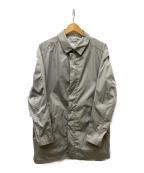 Calvin Klein(カルバンクライン)の古着「ステンカラーナイロンコート」|ライトグレー