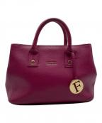 FURLA(フルラ)の古着「2WAYバッグ」 ショッキングピンク