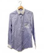 Maison Margiela 10(メゾンマルジェラ 10)の古着「切替レギュラースリムシャツ」 ネイビー