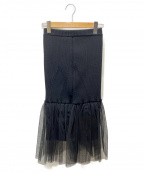 AKIRA NAKA(アキラナカ)の古着「チュールドッキングスカート」|ブラック
