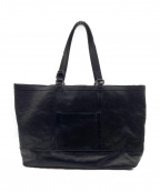 aniary()の古着「パンチングレザートートバッグ」 ブラック