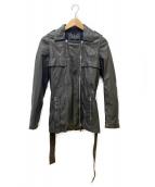 GUCCI(グッチ)の古着「ラムレザーライダースジャケット」 ブラック