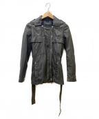 GUCCI()の古着「ラムレザーライダースジャケット」 ブラック