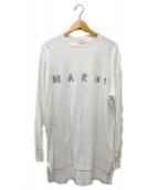 MARNI(マルニ)の古着「long-sleeved metallic logo T-s」|ホワイト